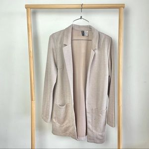 Divided Beige White Suit Jacket XS